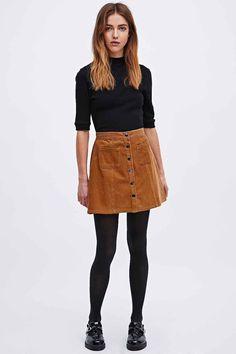 Image result for brown velvet skirt outfit