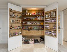 Larder cupboards are back in fashion.