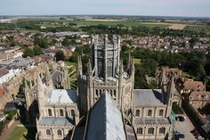 View from West tower of Ely Cathedral in Cambridgeshire, England | by mbphillips