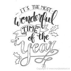 Handlettering door www.nl Handlettering door www. Hand Lettering Quotes, Creative Lettering, Typography Quotes, Brush Lettering, Christmas Typography Hand Lettering, Christmas Quotes, Christmas Art, Christmas Windows, Christmas Drawing