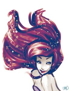 Ariel....love the hair coloring.