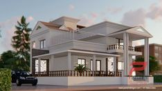 Two Storey House 2 Storey House Design, Duplex House Design, Two Storey House, House Design Photos, Architecture Building Design, Home Building Design, House Architecture, Amazing Architecture, House Layout Plans