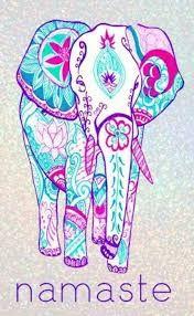 Namaste Love Lets Try Love Hamsa Design, Design Art, Tribal Elephant Drawing, Namaste, Elefante Hindu, Elephant World, Hamsa Art, Elephant Wallpaper, African Pottery