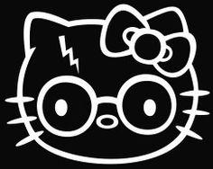 Harry Potter Decal Hello Kitty Sticker