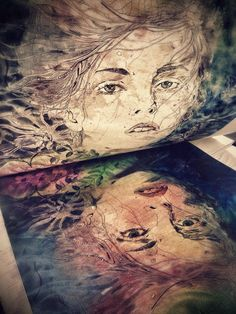 Pulling a print- Collagraph