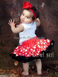 Red White Polka Dots Minnie Mouse Pettiskirt Birthday Party Tutu 1 2 WS273 | eBay