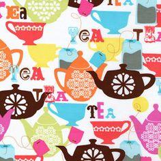 tea bag, cup and pot poster