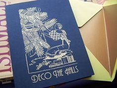 Art Deco Christmas cards - love!