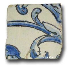 DETAILS An early, antique thick tile salvaged from a Baroque period tiled wall mural. Each with one of a kind decoration in cobalt and manganese tin glaze. Glazed Pottery, Glazes For Pottery, Ceramic Pottery, Glazed Ceramic Tile, Glass Ceramic, Islamic Decor, Antique Tiles, Portuguese Tiles, Wall Tiles