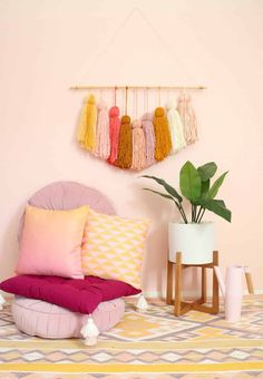 DIY Giant Tassel Wall Hanging #diy #decor