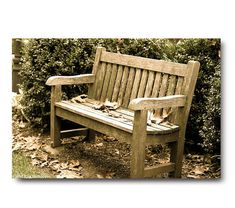 Peaceful photo wooden bench landscape print by semisweetstudios, $35.00