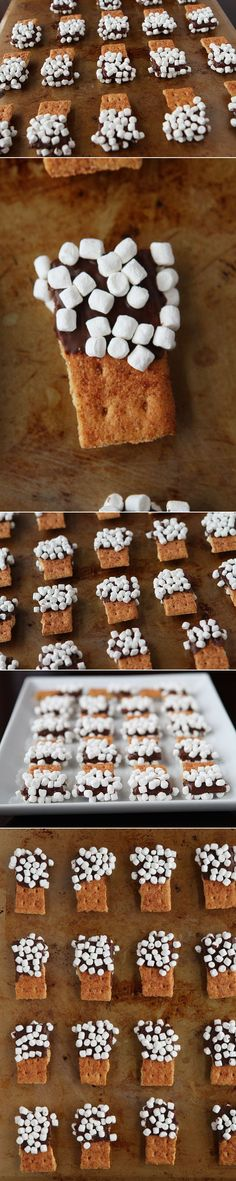 S'mores Mini Dippers. I love this