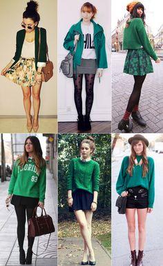 Inspiração para usar bastante verde, cor que eu adoro! <3