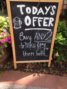 This sandwich board is being a real smartass...