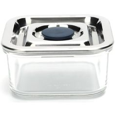 Amazon.com - Onyx Small Square Airtight Glass Container with 18/8 Stainless Steel Lid - Food Savers
