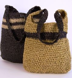 LOVE that these bags are made from discarded garbage bags in South Africa!