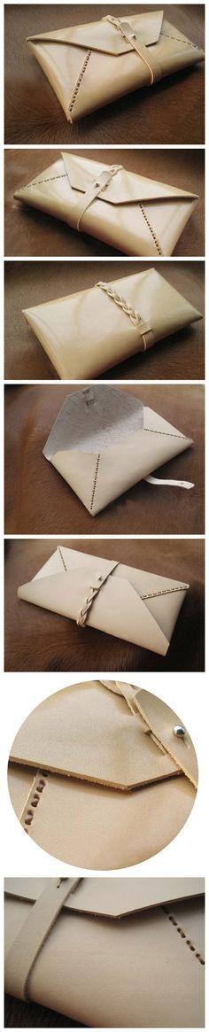 Handmade Clutch Envelope Wallet. $54.00, via Etsy.