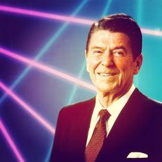 Ronald Reagan   #gipper #laser #portrait