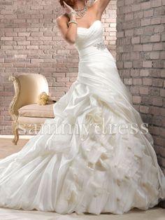 Sammy Dress Fancy Ballgown Sweetheart Satin Ruffle by SammyDress