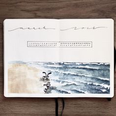 "190 Likes, 18 Comments - Let's (sm)art (@letssmart) on Instagram: ""March monthly overview ‍.#aquarelle • #showmeyourplanner #bulletjournal #bulletjournals #beach…"""