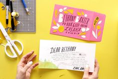 Save this for 10 amazing reasons for why snail mail is the BEST kind of mail. Fun Mail, You've Got Mail, Typography Design, Lettering, Pretty Letters, Old Greeting Cards, Handwritten Letters, Paper Crafts, Diy Crafts