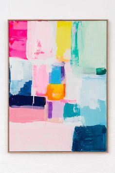Abstract Wall Art, Bright Abstract Art, Colorful Abstract Art, Contemporary Abstract Art, Painting Inspiration, Art Inspo, Diy Painting, Diy Art, Modern Art