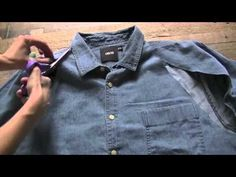 Dare to DIY in English: DIY Project: Boyfriend shirt ress Boyfriend Shirt Dress, Jeans Boyfriend, Dress Out, Diy Dress, Diy Halter Top, Denim Button Up, Button Up Shirts, Reuse Clothes, Recycle Jeans