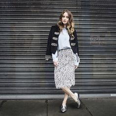 our girl @RosieFortescue in the After Hours Jacket from #LeavesofTelluride #SJsisterhood