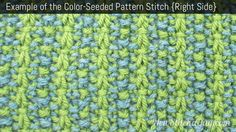 Example of the Color-Seeded Pattern Stitch. (Right Side)