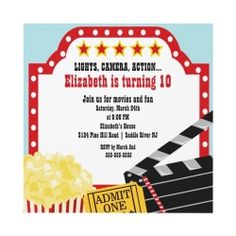 Movie birthday parties are fun for boys or girls and perfect for tweens.