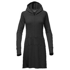 The North Face Women's L/S TNFTerry Dress: FEATURES of The North Face Women's Long Sleeve TNFTerry Dress Cozy - stretch french terry fabric…