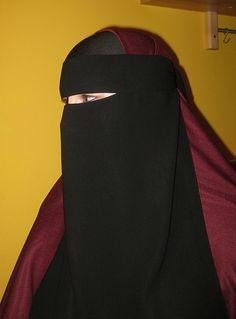 Maroon Khimar with Niqab