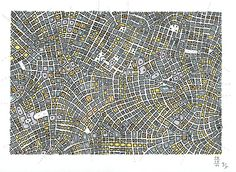 by Jue,   Fremde Staedte 060411 - an imaginary city map, #mapa, #imaginary