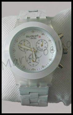 Relógio Swatch Metal Branco