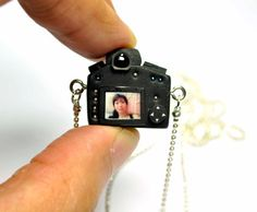 Personalized Canon 5D Mk III Camera miniature necklace from JnPol on Etsy