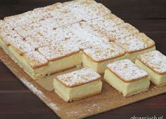 pl :: Napoleonka w 15 minut Fun Desserts, Delicious Desserts, Yummy Food, Kolaci I Torte, Ice Cream Cookies, Sandwiches, Cake Bars, Polish Recipes, Savoury Cake