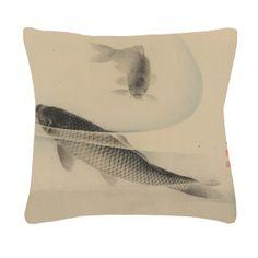 koi art throw pillow