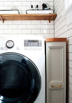 I'm sure if you had asked me about the laundry room after we first looked at our house, I wouldn't have really remembered anything about it beyond that it was disgusting. Little details…