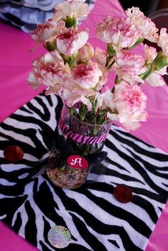 """Pink/Zebra Theme / Birthday """"Faboulous Zebra """""""