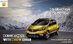 Scenic XMOD rental with snow tires, a good choice for driving in Germany and all of Europe this winter