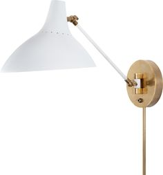 """Height: 7 1/2"""" - 14 1/2"""" Width: 9 1/4"""" Extension: 12"""" - 19"""" Backplate: 5 1/4"""" Round, $420, CHARLTON WALL LIGHT"""