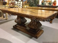 dining carved mesquite table