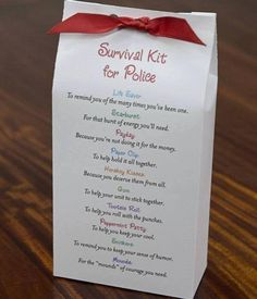 Such a cute idea for the police department and the hubs!