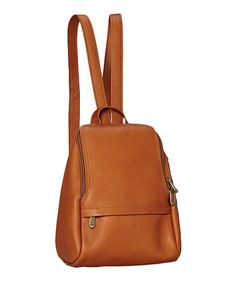 Another great find on #zulily! Tan U-Zip Leather Mini Backpack #zulilyfinds. $59.99