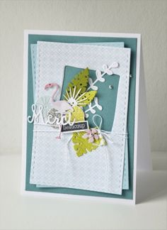 """Mary : Tampons et matrices de coupe (dies) #4enscrap """"Sous les tropiques"""" Emotions Cards, Thanks Card, Cactus, All Paper, Practical Gifts, Tampons, Pretty Cards, Stamping Up, Scrapbooks"""