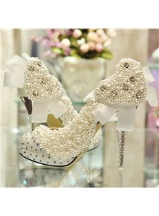 Luxurious Sweetheart Bowknot Rhinestone Bridal Shoes