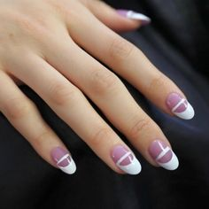 28 Dazzling Nail Polish Trends You Must Try in 2017  - Wearing catchy accessories and stunning jewelry pieces which are encrusted with diamonds can play an important role in enhancing your elegance and mak... -  striped-nails-13 .