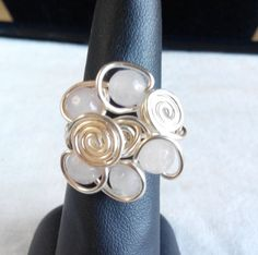 made in Ireland. by terramor on Etsy Rose Quartz Ring, Wire Rings, Copper Wire, Napkin Rings, Silver Plate, Ireland, Cufflinks, Silver Rings, Trending Outfits