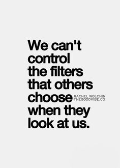 we see what we look for....