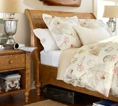 Ashby Sleigh Bed - Rustic Pine finish | Pottery Barn  MY DREAM BED
